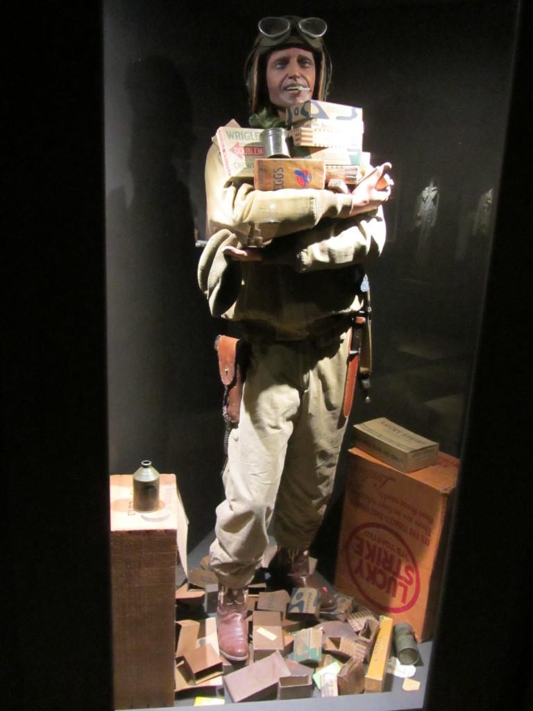 ¡Soldado americano con provisiones!
