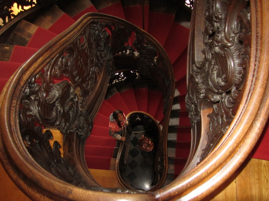 La joya de la Rotes Hous era la escalera de madera original