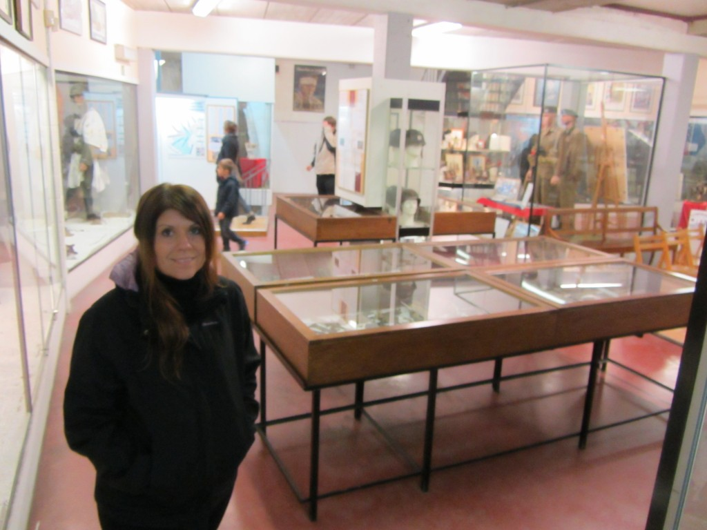 Dentro de las salas del Museo de las Ardenas