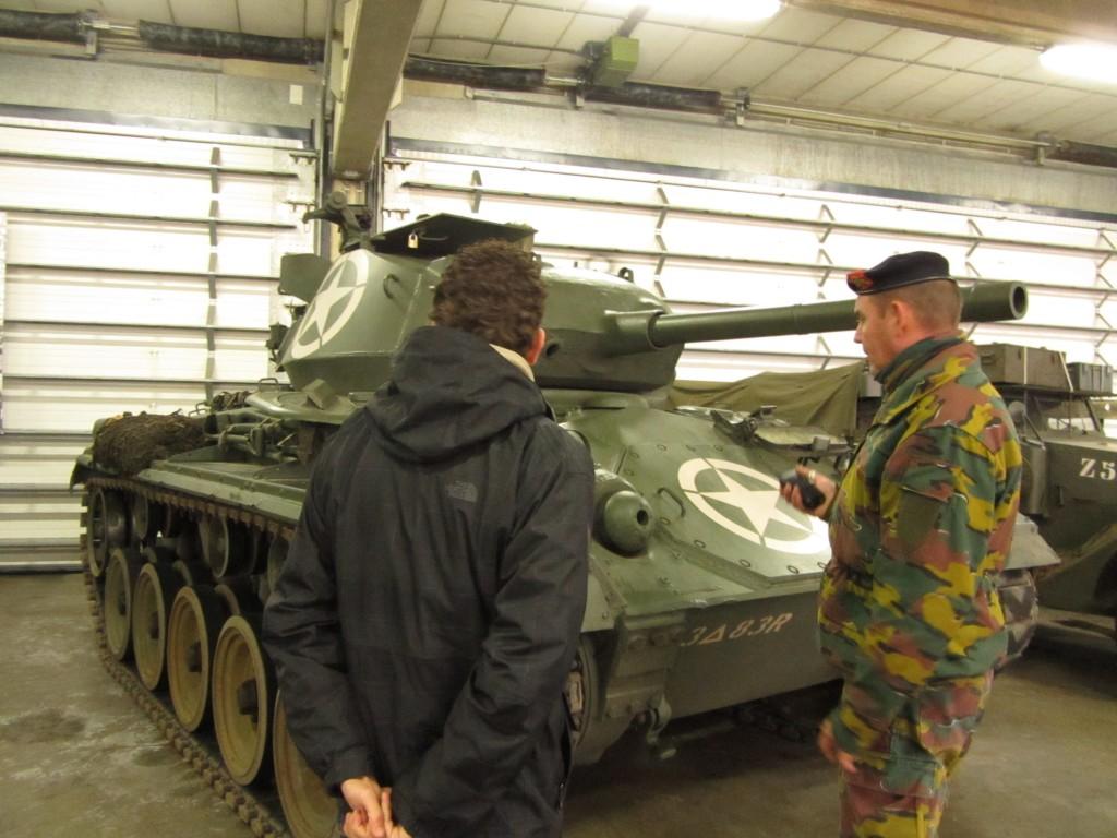 """Podías encontrar también tanques como el """"Chaffee"""", más raros de encontrar en otras zonas de la WWII"""