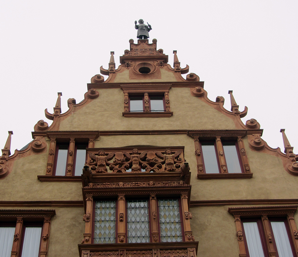 Detalle de la Casa de las Cabezas de Colmar